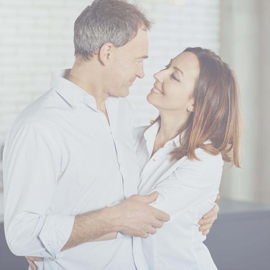 Healthy middle age couple